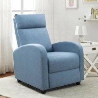 This reclining glider is made of high-quality fabric, which is skin-friendly and durable.