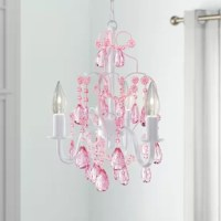 If your little one's room is looking a bit dim, flip the switch on a brighter look with a piece like this. Perfect for rounding out your child's room with a glamorous and traditional touch, this piece is defined by its dangling crystal accents that give every room a sparkling touch. Three candle-style lights let this dimmable piece wash your child's room in light. Compatible with sloped ceilings, this piece accommodates three 25 W candelabra bulbs (NOT included)