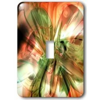 Fractal Orange n Olive Green Light Switch Cover is made of durable scratch resistant metal that will not fade, chip or peel.  Featuring a high gloss finish, along with matching screws makes this cover the perfect finishing touch.