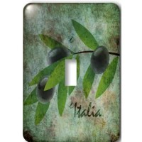 Inspired Italia Olives - Nature Art Light Switch Cover is made of durable scratch resistant metal that will not fade, chip or peel.  Featuring a high gloss finish, along with matching screws makes this cover the perfect finishing touch.