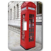 Londons Famous Red Phone Booths Light Switch Cover is made of durable scratch resistant metal that will not fade, chip or peel.  Featuring a high gloss finish, along with matching screws makes this cover the perfect finishing touch.