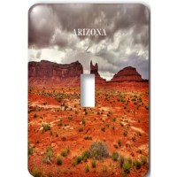 Monument Valley Arizona Light Switch Cover is made of durable scratch resistant metal that will not fade, chip or peel.  Featuring a high gloss finish, along with matching screws makes this cover the perfect finishing touch.
