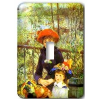 Renoirs Painting On The Terrace Light Switch Cover is made of durable scratch resistant metal that will not fade, chip or peel.  Featuring a high gloss finish, along with matching screws makes this cover the perfect finishing touch.