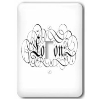 Pretty Script Says London Light Switch Cover is made of durable scratch resistant metal that will not fade, chip or peel.  Featuring a high gloss finish, along with matching screws makes this cover the perfect finishing touch.