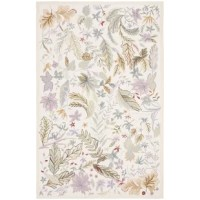This Roxane Hand-Hooked Wool Beige Area Rug is made from 100% pure virgin wool pile, hand-hooked to a durable cotton backing. American Country and turn-of-the-century European designs.