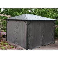 Whether you're looking to purchase a gazebo for a specific party or event, or you'd just like to add a chic hideaway to your backyard, this Polycarbonate Top Gazebo brings unique style and comfort to your outdoor space. Our gazebo provides a calm oasis to escape the midday sun, as well as creating shelter from rain or evening bugs. The understated gray color will complement your existing lawn furniture and outdoor décor. It's sure to become the most popular nook in your yard, with room...