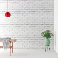 If you like the look of brick but don't want to break the bank, turn to the next best thing with this stylish wallpaper roll! Made in France, this roll is crafted from matte paper and features a traditional brick pattern in a solid hue that complements your modern home design. The paper arrives non-pasted, so we recommend using pre-mixed wallpaper paste before applying to your walls. And when it comes to removal, a simple solution is all you need. For a temporary look, this wallpaper is great...
