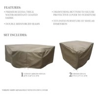 Looking to protect your outdoor furniture when the weather worsens or the seasons change? Turn to covers like this 3-piece set! Each cover is crafted from water-, weather- and UV-resistant fabric with reinforced seams, the set is designed to protect corner sofas and a curved armless sofa. And with a drawstring closure, it's easy to tighten this piece over your furniture and keep it secure from rain, snow, and dirt all year long.