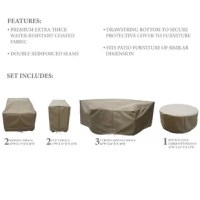 Keep your furniture protected when the weather worsens with this 8-piece set of covers! This set includes covers for two armless sofa seats, two cup holder tables, three curved, armless sofas, and a round coffee table. And since each piece is crafted from a UV-, water-, and weather-resistant fabric with reinforced seams, they're ideal for standing up to rain, snow, and sun all year long. Tie fasteners and a drawstring closure allow you to easily secure these covers over your furniture.