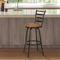 It's no wonder why stools are such a sought-after staple in home decor: they offer sensible seating arrangements to countertops, provide a stylish focal point to your bar ensembles, and are easy to carry from room to room when guests need somewhere to sit. Take this one, for example, The perfect pick for any contemporary space, it showcases a black metal frame complete with a circular footrest, and an open back for a breezy feel. Plus, the seat is upholstered with microfiber and filled with...