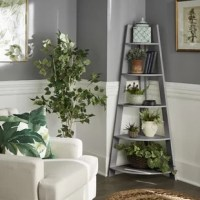 Add some stylish storage to your space with this Bookcase. Five tiered shelves allow this bookcase to showcase your belongings (large or small!) in a unique way. Display items such as snow globes, figurines, or small books on the first few shelves, while the larger base shelves can hold items such as plants, diplomas, or picture frames. Durable rubberwood allows for hassle-free maintenance while maintaining a gorgeous rustic look. Complementary to classically styled homes, this bookcase is the...