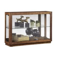 A world-class collection or treasured personal items deserve a display cabinet befitting their status: this horizontal lighted design gives them the spotlight they deserve. Fitted with a single glass adjustable shelf, both the right and left side panels open to allow easy access to the interior while leaving the case front free of hardware. Two top-mounted lights can be adjusted through three levels of illumination, ensuring the display cabinet's contents look equally impressive by day or night.