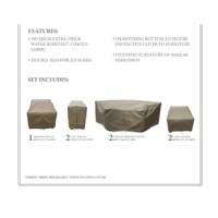 When the weather worsens or the seasons change, covers like this 7-piece set is just the thing to help protect your outdoor furniture from rain and snow. This set includes covers for an armless sofa chair, two curved armless sofas, two club chairs, and two cup holder tables, and each piece is crafted from UV-, water-, and weather-resistant fabric with reinforced seams that's ready to live on a patio or deck. Plus, thanks to the drawstring closures and tie fasteners, you can easily slip this set...