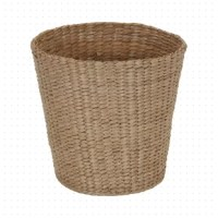 Dress up the bedroom or bathroom with this this stylish wastebasket! Woven from water hyacinth, this 2-gallon design showcases a natural look, a great alternative to plastic bins. Since it is crafted from a natural material and does not include a liner, we recommend only using it to accommodate dry trash. Have another idea? Pop in a faux plant if you want to add a little greenery to your space.