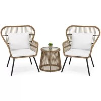 Weekend brunch with your favorite friend just got a bit more stylish. This chat set is the picture of the class. Giving you and the guest of your choosing a comfortable place to gossip over mimosas.