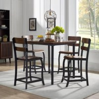 This handsome bar table base has an attractive trestle style that puts the emphasis on the simple beauty of the wood.  A classic bar table silhouette gets a rustic-industrial upgrade for modern appeal. Wipe with a dry soft cloth.