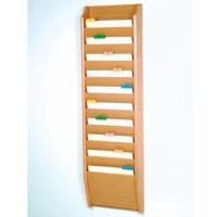 Wooden Mallet's Ten Pocket Chart Holding Wall File Pockets are an attractive way to keep files handy. Our unique overlapping design neatly displays and organizes files, keeping them tidy and visible in the least amount of space.