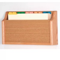Wooden Mallet's new oak legal size file holders are an attractive way to keep files handy.