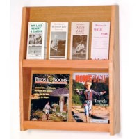 Wooden Mallet's full-view literature displays are a contemporary and beautiful way to display your literature. Slanted shelves allow full view of literature while keeping it neat and organized. Add the optional floor stand to create a floor display.