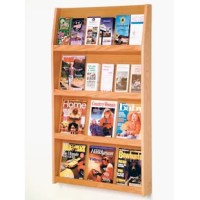 This manufacturer's full-view literature displays are a contemporary and beautiful way to display your literature. Slanted back shelves allow full view of literature while keeping it neat and organized.