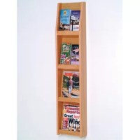 Wooden Mallet's full-view literature displays are a contemporary and beautiful way to display your literature. Slanted shelves allow full view of literature while keeping it neat and organized.