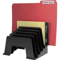Sorter features five inclined compartments to keep files visible and within reach. Five slots are perfect for holding forms, invoices, orders, mail and file folders.