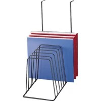 File sorter features eight inclined slots to accommodate letter-size file folders and documents. Sleek, open-wire design fits any decor and provides a clear view of your work.