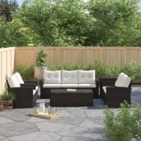 Create a space for family and friends to enjoy the outdoors with this 6-piece outdoor seating group! Including a sofa, loveseat, two armchairs, an end table, and a coffee table, this set arrives with everything you need to set up an outdoor oasis on your patio or deck. Plus, since each piece is crafted with a steel frame and is wrapped in resin wicker, they're all weather- and water-resistant. Seat cushions and button-tufted back cushions are included, so you can get right to lounging as soon...