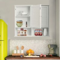 This bathroom storage cabinet can utilize the spare wall space in the bathroom, kitchen, and corridor, helping you build a convenient and neat living environment. It is equipped with a single shutter door and inside you have 2-tier storage shelves that provide you with ample space for your frequently used items. At the bottom of this cabinet, there is a practical open-ended storage shelf with 14.5
