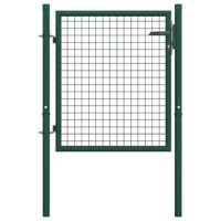 This fence gate will make a contemporarily styled, practical entryway to seclude your garden from the outside world. Highly stable and durable, the fence gate will form a practical security barrier for your garden, patio, or terrace. A galvanized sheet with a decorative hole pattern reinforces the frame, so our garden gate will provide a high degree of security while forming a fabulous entryway onto your property. Manufactured from heavy-duty steel, the gate is powder-coated against rust and...