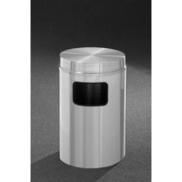 Product details a practical solution for any location, this attractive low profile receptacle features a flat aluminum top, and an easy access large side opening for waste deposits. The flat top helps to keep trash out of sight. Since 1945, Glaro has built a reputation for quality, attractive, functional, durable, and versatile waste receptacles that last for years and years. Able to enhance any décor, this sleek satin polished aluminum receptacle features a clear, protective, baked powder...