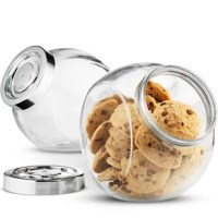 These cookie jars are a stylish and functional way to freshly store and display cookies on countertops, pantries, and coffee tables that encourages and welcomes guest to treat themselves to a delicious snack.