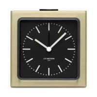 Block is an alarm clock with a small but strong appearance. A fusion of aesthetics and functionality, and a compromise between delicacy and robustness. The design is simple, but with a lot of surprising details. At night the fluorescent hands will become visible and the whole dial can be lit up by pushing the snooze button on top.