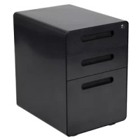 You may love your current desk but have nowhere to store your paperwork without cluttering the desktop, insert this locking file cabinet to keep the minimalistic appearance of your modern office desk. This 3-drawer pedestal file cabinet has low set casters to keep up with the needs of a busy worker. The convenience of casters is ideal for employees who regularly file documents, allowing them the option to pull the cabinet near them while monitoring incoming emails. The modern 3-drawer mobile...