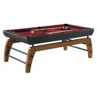 This unique Hall of Games 7' Billiard Table is just the thing to improve your family's basement or game room. Premium K-818 bumpers offer a consistent ball bounce while the wool blend top allows for a smooth ball roll. Reinforced play surface for enhanced durability and level playfield. It's suitable both for beginners as well as the most experienced of players. This billiard table is easy to assemble and has leg levelers to ensure you can achieve and maintain a level playing surface.
