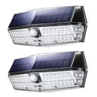 Solar Motion Light, LITOM Solar Lights Outdoor, with 3 Lighting Modes, IP66 Waterproof for Front Door, Yard, Garage, Deck, Porch-2 Pack