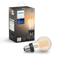 Experience ultimate smart lighting control and bring vintage style to your smart home with this fully dimmable smart light bulb featuring a coiled filament design. The smart bulb can be used with Bluetooth or paired with a Philips Hue Hub (sold separately) for ultimate smart lighting control.