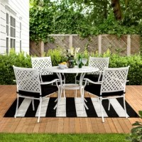 Colrain 5 Piece Dining Set with Cushions