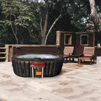 Find deep relaxation in your own backyard oasis with Aleko's Oval Hot Tub 2-Person Inflatable Plug and Play Spa with Drink Tray. This Oval Hot Tub 2-Person Inflatable Plug and Play Spa with Drink Tray provides all of the mental and physical health benefits of a traditional hot tub with a more convenient installation process. This personal spa also comes in at a more accessible price point, making this an ideal option for people from all walks of life. Sip on a refreshing beverage while you soak...
