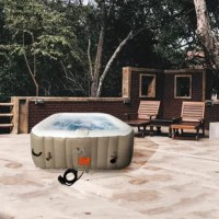 Find deep relaxation in your own backyard oasis with Aleko's square inflatable hot tub. This 6-person spa provides all of the mental and physical health benefits of a traditional hot tub with a more convenient installation process. The personal spa also comes in at a more accessible price point, making this an ideal option for people from all walks of life. This hot tub is a wonderful addition to most outdoor living spaces places it on your patio, in your garden, or anywhere you like to relax....