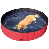 Let your pets cool off in the hot summer by soaking in this portable and durable bathtub! If your pet enjoys playing in the water, or you are looking for something to give your pet a bath, this PVC bathtub for Dogs/Cats is exactly what you need. It not only keeps your pets cool in the water, but also works well as a bathtub to make your pets clean. It is suitable for kids, cats, dogs, ducks, etc. This pool will be perfectly used both indoors and outdoors. Come on! You and your pets will not be...