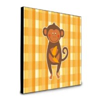 The medium-density fiberboard (MDF) wall panel is printed with gloss artwork. Keyholes for vertical or horizontal mounting or use the provided easel kickstand. Smooth black back finish edges and back. Superior image reproduction as well as scratch, abrasion and stain resistance.