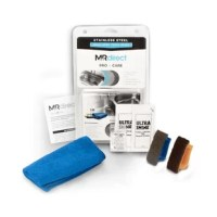 The Pro Care: Stainless Steel Touch Up Kit is an outstanding non-toxic restoration kit among leading professionals and general consumers. This product is perfect for light scratches and scuffs or chemical stains on small surface areas. This kit can be used on stainless steel sinks, oven hoods, grills, or any other non-coated true stainless steel surface. This product includes a bundle of all the necessary tools needed to easily and safely restore any small surface of authentic, non-coated satin...