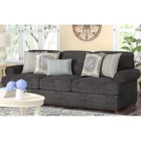 Sofas are not just for sitting. Though perfect for providing a perch for cocktail parties and movie nights alike, they also set the tone for your whole ensemble – be it a casual den, formal living room look, or even a master suite. Take this one for example: Its traditional frame is constructed from solid and manufactured wood and features foam and synthetic fiber padding.