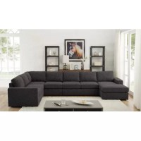 With the unlimited possible options, this sectional features a superior linen upholstery, tight back, and seat cushion. This product is completely modular so you can create the living room for your comfort needs.
