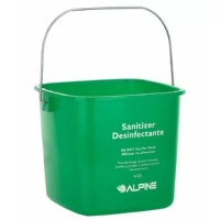 The water bucket is great for holding up water for cleaning that is made of durable polyethylene. With a strong zinc handle to carry the cleaning bucket to your dirty jobs, it won't rust or corrode. The bucket contains multi-lingual text on the front to keep employees informed about health codes and the bucket's purpose. The cleaning pail also features interior graduation marking for measurement to assist in accurate liquid to solution ratios. Pack of 3 to sort different cleaning chemicals or...
