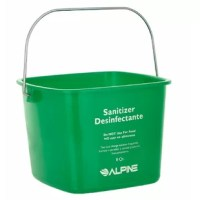 The water bucket is great for holding up water for cleaning that is made of durable polyethylene. With a strong zinc handle to carry the cleaning bucket to your dirty jobs, it won't rust or corrode. The bucket contains multilingual text on the front to keep employees informed about health codes and the bucket's purpose. The cleaning pail also features interior graduation marking for measurement to assist in accurate liquid to solution ratios.