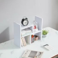 This innovative desktop shelf is able to adjust to shapes which you like. Maximizing its usage. The simple design also looks so elegant, enhancing a chic look in your room.