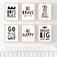 Looking for creative nursery and baby room decor ideas? Create a cute nursery or kid's bedroom with nursery wall decor, children's wall hangings, and inspirational kid's art prints. This modern minimalist nursery decor print is ideal for a children's bedroom, playroom, or bonus room. The high-quality unframed nursery prints provide inspiration to both kids and adults alike.