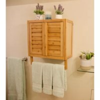 This sustainable bamboo 2-door wall-hanging space saver is perfect for wet environments. The completely enclosed cabinet is dust-free and includes an adjustable interior shelf, to hold your towels, tissues, toiletries, and spa accessories. You can trust that the sturdy, eco-friendly bamboo construction makes it desirable for a variety of uses, without the worry of water absorption or bacterial build-up. The ideal design and versatility for your bath and spa areas!